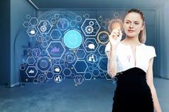 Teknologi, framtid och innovationbegrepp Royaltyfri Fotografi