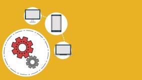 Teknologi HD för elektroniska apparater royaltyfri illustrationer