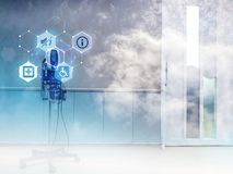 Teknologi i sjukvård arkivbild