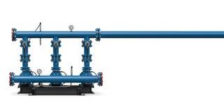 Teknologi: illustrationpumpstation av vatten Royaltyfri Foto