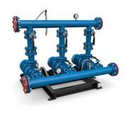 Teknologi: illustrationpumpstation av vatten Royaltyfria Foton