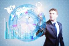 Teknologi-, innovation- och framtidsbegrepp Arkivbild