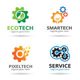 Teknologi Logo Template Design Vector Stock Illustrationer