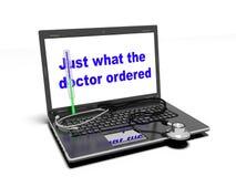Teknologi och medicin, 3d framför Arkivbild