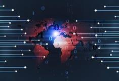 Teknologibakgrund för binär kod Royaltyfri Bild