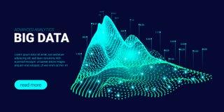 Teknologibakgrund med den Big Data strömmen vektor illustrationer