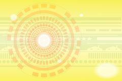Teknologibakgrund med guld- färger stock illustrationer