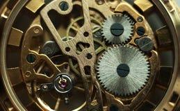 Teknologibakgrund med metallkugghjul och Royaltyfri Bild