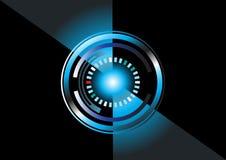 Teknologibakgrundscirkel Arkivfoton
