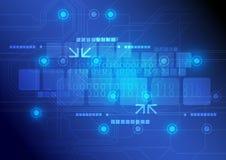 Teknologibakgrundsdesign Arkivbild