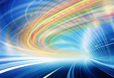 Teknologibakgrundsillustration, abstrakt hastighet Royaltyfri Bild