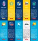 Teknologibanerbegrepp royaltyfri illustrationer
