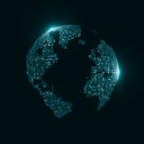 Teknologibild av jordklotet Arkivfoto