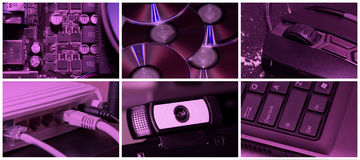 Teknologicollage Royaltyfria Bilder