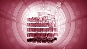 teknologier för futuristic flicka för begrepp för binär kod gräver lysande Blandat massmedia Arkivbilder