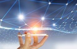 Teknologier för global kommunikation Arkivfoton