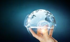 Teknologier för global kommunikation Royaltyfri Foto