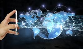Teknologier för global kommunikation Royaltyfria Bilder