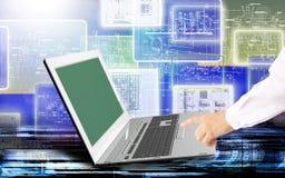 Teknologier för teknikdatorinternet Arkivbild
