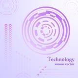 TeknologiHUD abstrakt begrepp Royaltyfri Bild