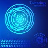TeknologiHUD abstrakt begrepp Arkivfoton