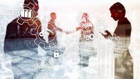 Teknologiinnovation och processautomation Smart bransch 4 royaltyfri bild