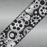 Teknologimetallbakgrund med kugghjul. vektor illustrationer