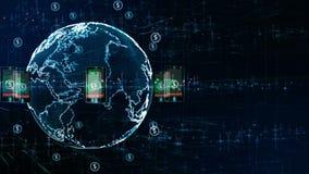 Teknologinätverk med telefonen och holographic information