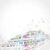 teknologisk abstrakt bakgrund Arkivfoton