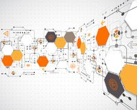 teknologisk abstrakt bakgrund Royaltyfria Bilder