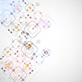 teknologisk abstrakt bakgrund Fotografering för Bildbyråer