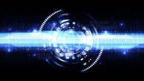 Teknologisk abstrakt digital linje modern manöverenhetsbakgrund Arkivbild