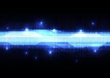 Teknologisk abstrakt digital linje strömkretsmanöverenhetsbakgrund Royaltyfri Foto