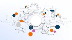 Teknologisk abstrakt modern digital beståndsdelbrädebakgrund Royaltyfri Fotografi