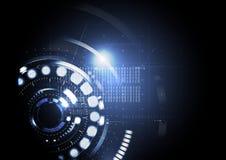 Teknologisk abstrakt modern LEDD ljus backgr för digital manöverenhet Arkivbild