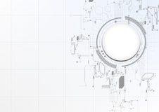 Teknologisk abstrakt teknisk digital beståndsdelbrädebakgrund Arkivbild