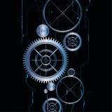 Teknologisk elektrisk kugghjulbakgrund för vektor Royaltyfri Foto