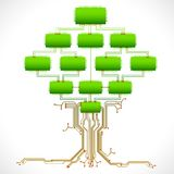 teknologisk tree Arkivbild