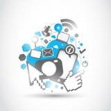 Teknologiska ändringar för affär Arkivfoton