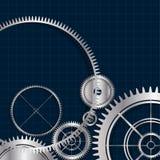 Teknologiska moderna kugghjul bakgrund för vektor, i rasterbakgrund Arkivfoton