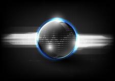 Teknologiskt abstrakt begrepp för sfär för signal för global kommunikation modernt Royaltyfri Bild