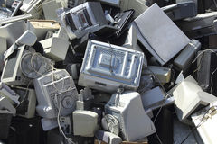 Teknologiskt avfall royaltyfria foton