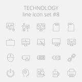 Teknologisymbolsuppsättning vektor illustrationer