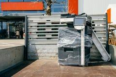 Teknologitransporttion i maskin för biltrucnkkopia Royaltyfria Bilder