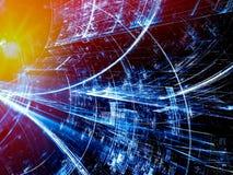 Teknologitunnel - frambragd bild för abstrakt begrepp digitalt Arkivfoton