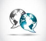 Teknologivärldskommunikation Arkivbild