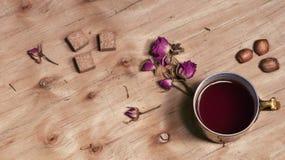 Tekopp och socker Royaltyfria Foton