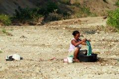 Tekort aan schoon water stock foto