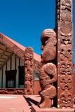 Tekoteko maorí, Ohinemutu, Rotorua Fotos de archivo