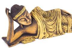 Tekowy drewniany łgarski Buddha. Fotografia Royalty Free